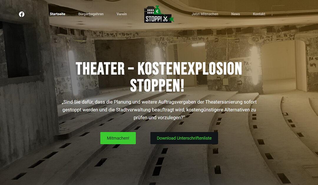 Bürgerbegehren für günstigere Theatersanierung gestartet