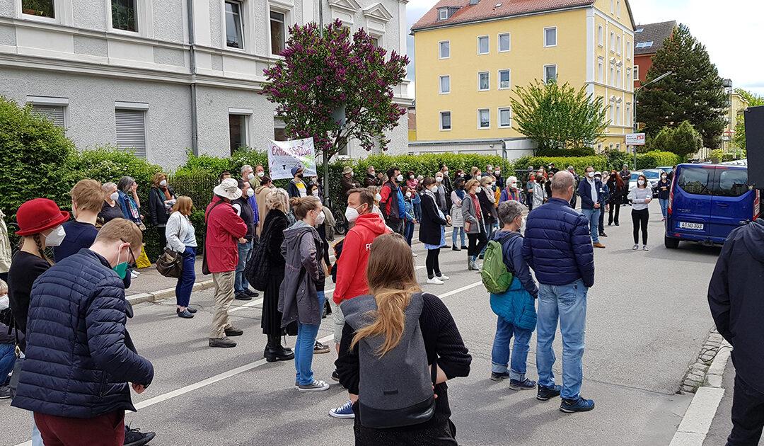 Calmbergstraße: Protest gegen Pläne des Freistaats